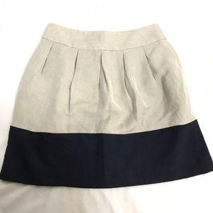 Zara Basic Pleated Grey Blue Skirt